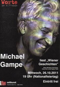 galerie time Worte am Mittwoch: Michael Gampe liest Wiener Geschichten Altenberg, Kuh, Kraus u.a.
