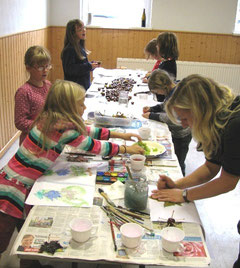 Meistermaler am Werk