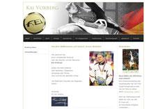 Screenshot Kai Vorbergs Homepage