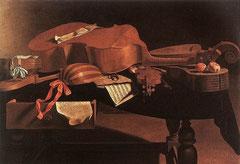 """Envaristo Baschenis Gemälde """"Musikinstrumente"""""""