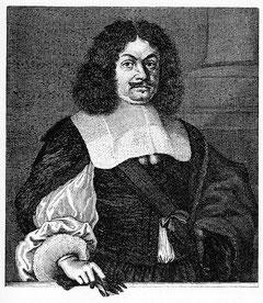 """""""Andreas Gryphius"""" (Kupferstich von Philipp Kilian)"""