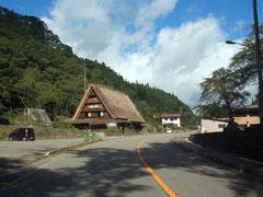 R156沿いにある合掌造りの旧遠山家民俗館