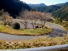 県道68から登山道へ向かう気持ちの良い山道