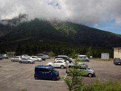 御嶽山7合目にある田の原駐車場
