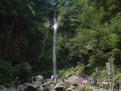 落差約60m。写真で見るよりずっと巨大な滝