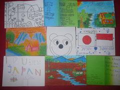 子どもたちが作ったグリーティングカード。