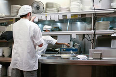 厨房の作業