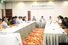 石垣港長期構想検討委員会の初会合が開かれた(2日午後)