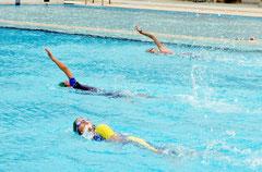 石垣市営プールがプール開き=1日午後、運動公園内