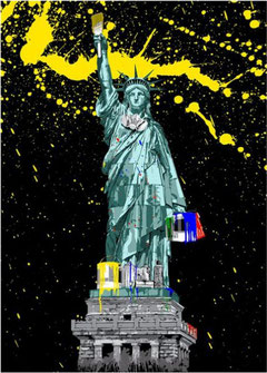 Mr Brainwash Statue of Liberty