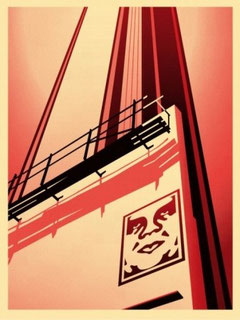 Shepard Fairey Sunset and Wine Boulevard