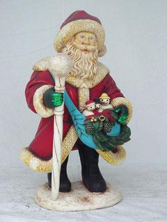 Réplica de Santa Claus en el hielo