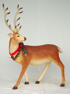 réplica de reno navideño