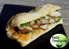 Banh mi nem nuong, sandwich vietnamien aux boulettes vietnamiennes