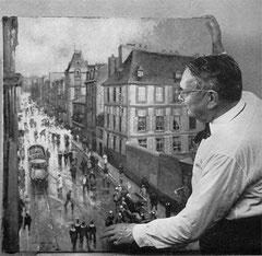 Jim-E. Sévellec dans son atelier © Archives de Brest Métropole