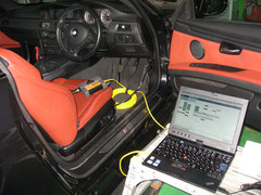 BMW、コンピューター診断、修理中