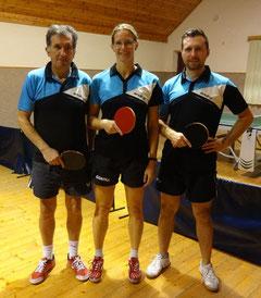 Unser Herbstmeisterteam: Siegfried Föllerer, Martina Wilder und Christopher Stranzl.