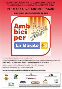 Pedalada per la Marató 2013