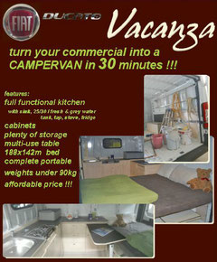 Vacanza - the 30 minutes campervan conversion
