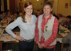 Barbara Wand (r.) führt künftig den Verein für Kirchenmusik KlanglichT, als ihre Stellvertreterin wurde Johanna Lorenz gewählt. Foto: Christine Jäckel