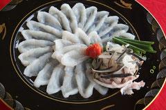 料理一例:とらふぐ刺身