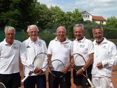 von links:   Klaus Krüger, Peter Rohloff, Ernst-Günther Ehmke, Peter Dahlmeier und Jochen Tillack