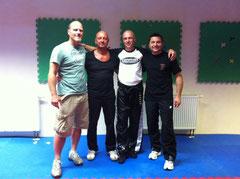 Nach der Kickboxgürtelprüfung vom 23.09.2012, die Trainer und Prüfer (v.l.n.r.: St. Müller, H Göhring, J. Schorn, J. Paulfranz, Waldemar fehlt)