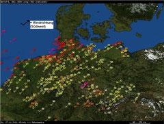 Wind am 27.11.2011 Quelle: www.unwetterzentrale.de