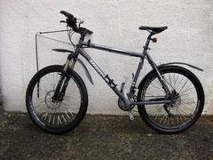 MTB mit Zugleine als Bike-Jöring-Rad
