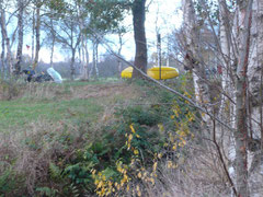 Leichtgewichtig fuhren die Liegeräder durch das Moor nach Hause.