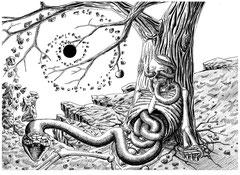 Hohlkörper III Skizze II