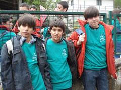 Daniel, Alex y Gonzalo