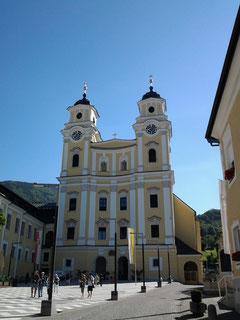 Rundfahrt im Salzkammergut: Pfarrkirche Mondsee.