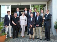 Die Mitglieder der Landesgruppe mit dem Helgoländer Bürgermeister Jörg Singer und den CDU-Ortsvorsitzenden Claas Engel und Monika Allmrodt