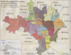 Projet de redécoupage des cantons (Midi-Libre)