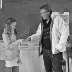 """Remise du """"prix du Grillon"""" à l'école de Soudorgues"""