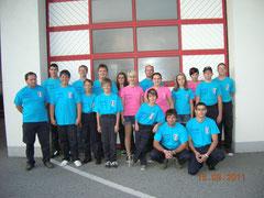 Die Feuerwehrjugend mit den neuen T-Shirt