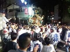 浦和区東仲町 お祭り 神輿 夜 大善院