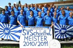 In der Saison 2010/2011 war es endlich soweit: Der Schönthaler Sportverein wurde A-Klassen-Meister