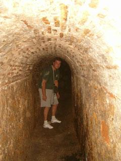 Germán en las Cuevas de Mariamoco. Propiedad Germán Garbarino