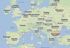 Map powered by Google