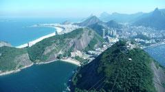 Blici vom Zuckerhut Richtung Copacabana