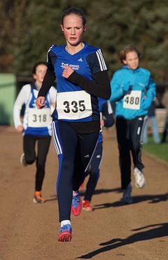 Anna Ueffing bot eine eindrucksvolle Vorstellung bei den Kreis-Crossmeisterschaften