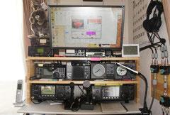 ゴム集成材 自作 無線機のラック