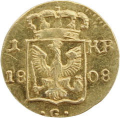 1 Kreutzer Glatz 1808 Goldabschlag, 12.000€