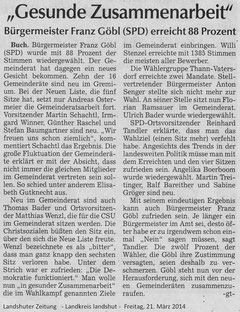 Landshuter Zeitung, 21. März 2014