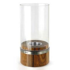 Windlicht Glas Holz