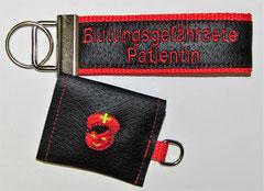 Schlüsselanhänger Bin Bluter/ Notfall 112, AKE, Blutungsgefährdeter Patient