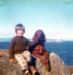 With Shamus on Gabriola island 1974