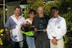 Gartenfreund des Jahres 2010 Siegfreid Cantow mit Ehefrau Anne